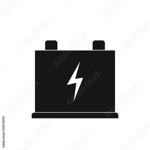 Wallpaper Mural Car  accumulator icon, battery sign, vector