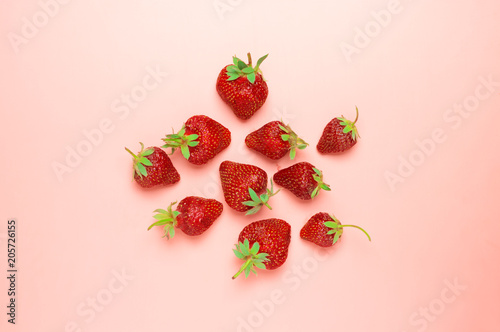 Fotografie, Obraz  Pile of fresh strawberries