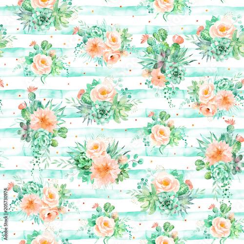 akwarela-bezszwowe-wzor-z-kwiatow-sukulentow-i-kaktusow-bukiety-na-paski-tle