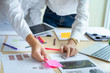 Startup Diversity Teamwork Brainstorming Planning Partnership Concept.People Working Planning Start Up.