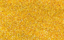 Bulk Of Yellow Corn Grains Tex...