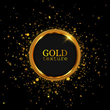 Gold Glitter Dust. Abstract Luxury Background.