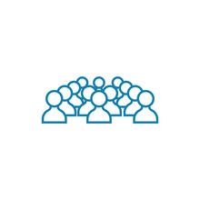 Conference Participants Line Icon, Vector Illustration. Conference Participants Linear Concept Sign.