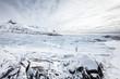Svinafellsjökull Gletscherzunge im Winter