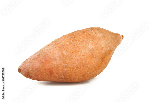 Sweet potatoes on white background Canvas