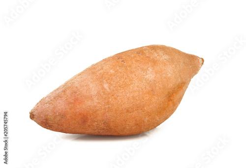 Obraz na płótnie Sweet potatoes on white background