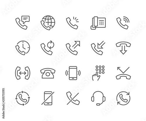 Fotografia  Line Phone Icons