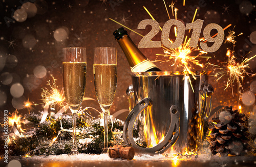 Fotografie, Obraz  New Years Eve celebration