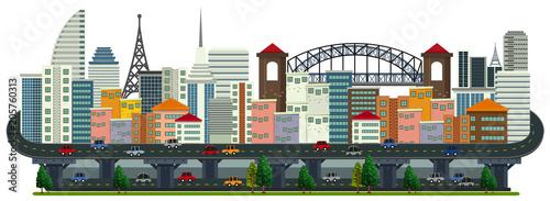 Papiers peints Jeunes enfants A Panorama of Big City Landscape