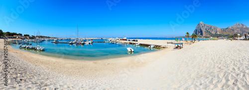 Poster Mediterraans Europa San Vito lo Capo beach, Sicily, Italy
