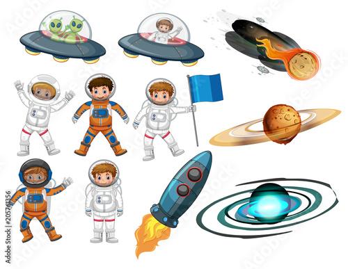 Papiers peints Jeunes enfants A Set of Space Element