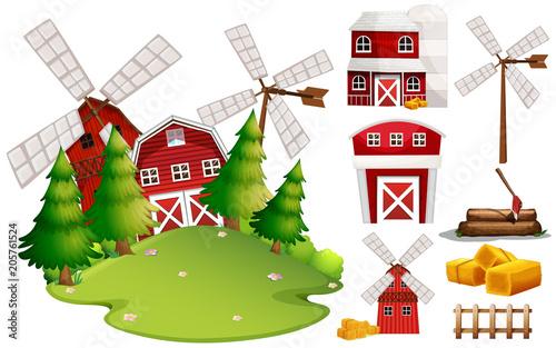Papiers peints Jeunes enfants A Barn House and Farm Element