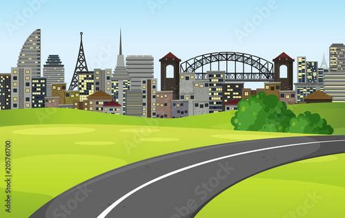Papiers peints Jeunes enfants A Road to the Big City
