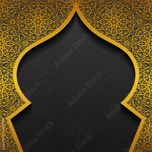 Fototapeta Floral background with traditional ornament obraz
