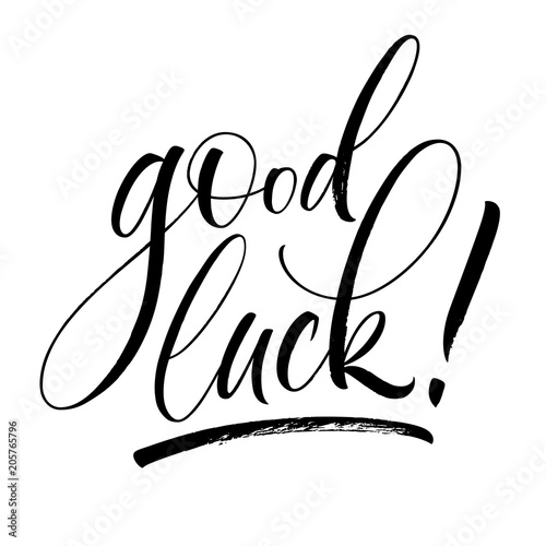Good Luck lettering Canvas-taulu
