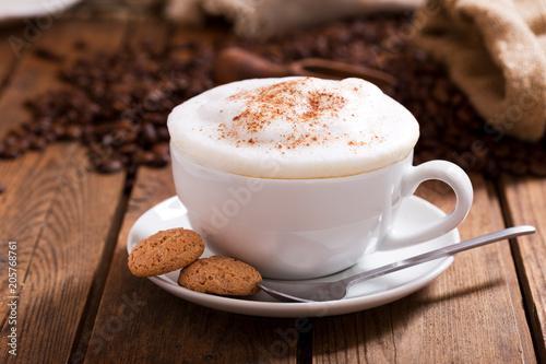 Fotografie, Tablou Cup of cappuccino coffee