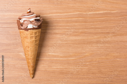 Fotografie, Obraz  Creamy chocolate ice cream