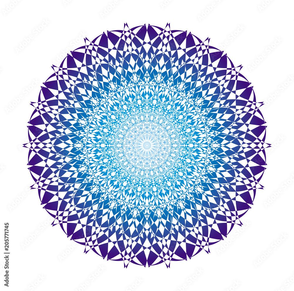 Photo  Mandala in blue tones