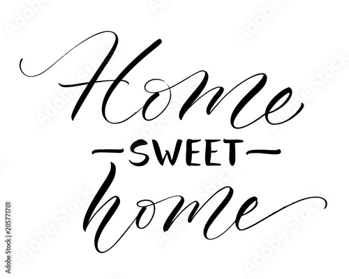 Sweet Home lettering Canvas-taulu