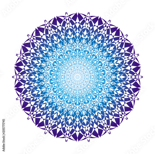 Photographie  Mandala in blue tones