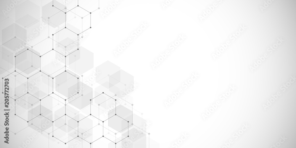 Fototapety, obrazy: Medical background or science vector design. Molecular structure and chemical compounds. Geometric and polygonal abstract background.
