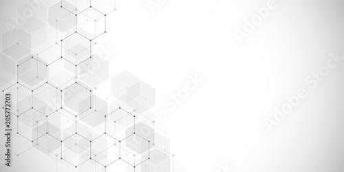 Fotografiet  Medical background or science vector design