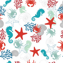 Abstract Pattern With Sea Horse