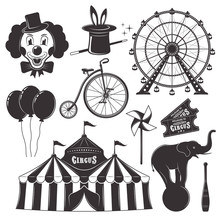 Circus And Amusement Park Vect...