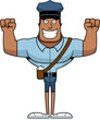 Cartoon Smiling Mail Carrier