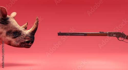 Fototapeta premium Nielegalne polowanie koncepcja 3d renderowania 3d ilustracji