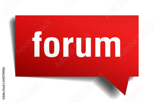 forum red 3d speech bubble Wallpaper Mural