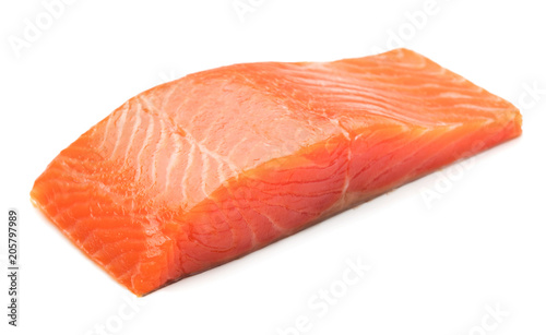 Fotografie, Tablou piece of salmon fillet isolated on white background