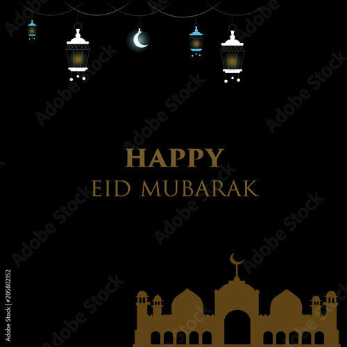 Happy eid mubarak greeting card in elegant design buy this stock happy eid mubarak greeting card in elegant design m4hsunfo