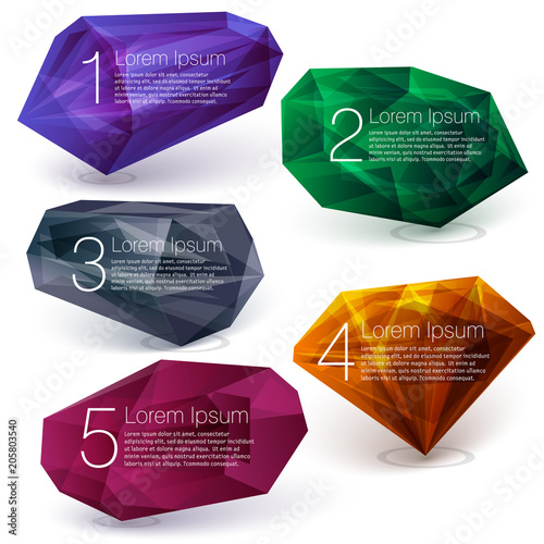 Fotografie, Obraz  Crystal ifographics template