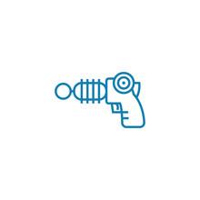 Electronic Gun Line Icon, Vect...