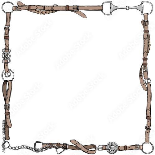 Fotografía  Equestrian belt frame