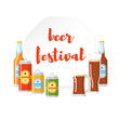 Beer festival flat poster