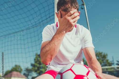 Obraz na plátně Soccer Fan Frustration