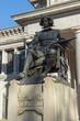 Velazquez Statue in front of Museum of the Prado in City of Madrid, Spain