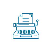 Writing Line Icon, Vector Illu...