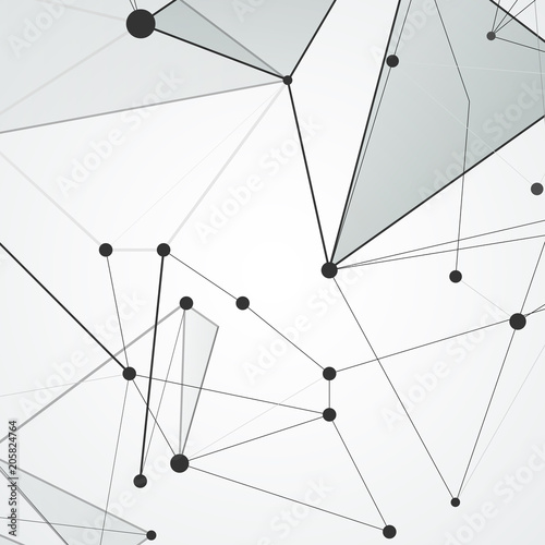 Abstract polygonal space connecting background