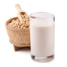 Soy Milk And Soybean Isolated ...