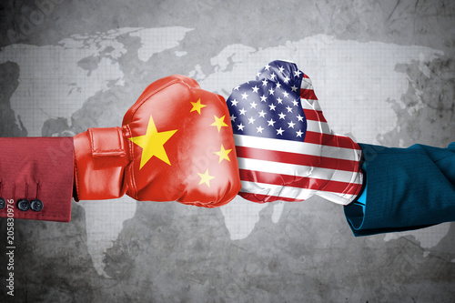 China conflict with USA Wallpaper Mural