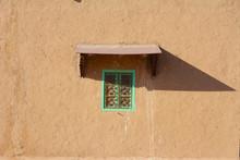 土壁の家の窓