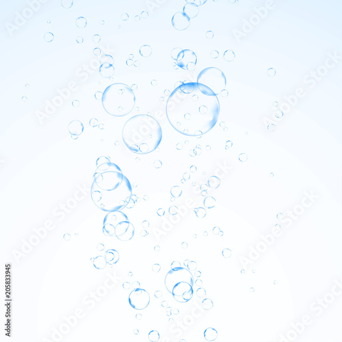 Fizzy refreshing water bubbles graphical abstraction Canvas Print