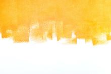 Bright Orange Painted Wall. Ap...