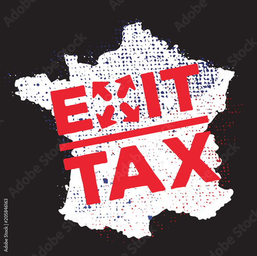 exit tax Wall mural