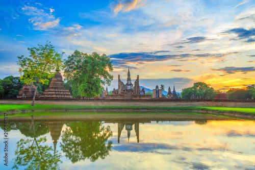 Obraz na plátně  Sukhothai historical park Thailand