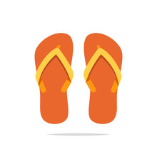Flip Flops Vector Isolated