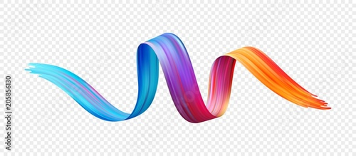 Deurstickers Vormen Color brushstroke oil or acrylic paint design element. Vector illustration